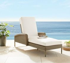 Georgia All-Weather Wicker Single Chaise With Arms