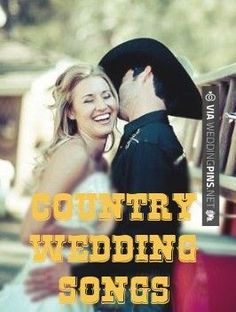 Great ideas for Country Wedding Songs for both your ceremony and reception. Great ideas for Country Wedding Songs for both your ceremony and reception. Kind of think I love your love the most b. Country Wedding Songs, Wedding Music, Country Music, Country Weddings, Vintage Weddings, Lace Weddings, Country Style, Wedding Dresses, Wedding Reception