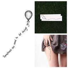 Let it Go - Temporary Tattoo (Set of 2)