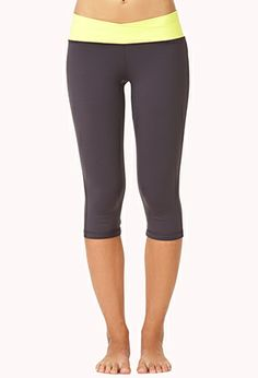 Layered Skinny Workout Capris | FOREVER21 - 2000127811