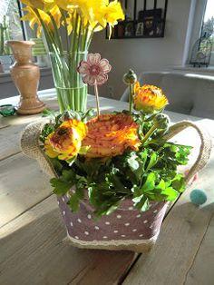 Stampin Up Blumenstecker mit Flower Shop