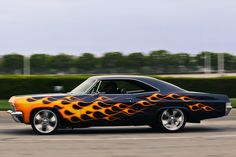 Flaming 1965 Chevrolet Impala