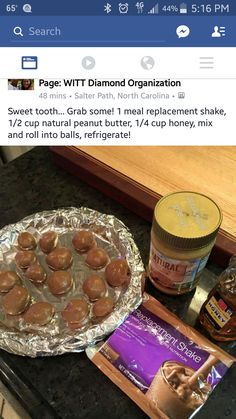 Amaze balls with Advocare Meal Replacement Shake