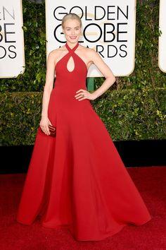 Pin for Later: Golden Globes 2015: Tous les Looks de la Soirée Taylor Schilling