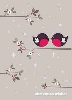 Christmas Wishes Robin Card, http://bobbieprint.blogspot.com/