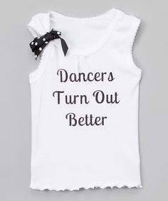 Look at this #zulilyfind! White Bow 'Dancers Turn Out' Tank - Infant, Toddler & Girls #zulilyfinds