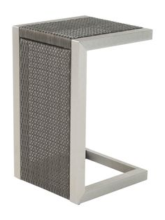 Nfusion Outdoor Cape Coral Wicker C-Shaped Side Table