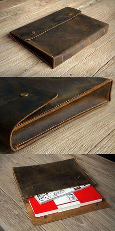 vintage leather document holder bag