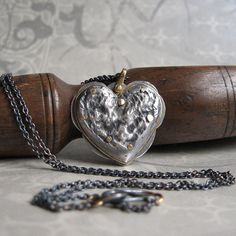 heart pendant by Quench Metalworks