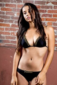 CHANEL CHAIN BIKINI BOTTOM - BLACK   Be a bathing beauty with this beautiful triangle top swimsuit. Featuring a triangle top with padded cups, halter tie, back tie, and chain design. Bottom features a chain design.  #clothes #clothing #swimwear #swim #hot #sexy #bikini #black #gold #chain #hiphop #happywomensday #daylightsavings #selma #offine #avsvsl #sunday #springbreak #saturdaynight #chappie #zombie #obsezz #fashionblogger #fashion #style #lastyle #losangeles #california