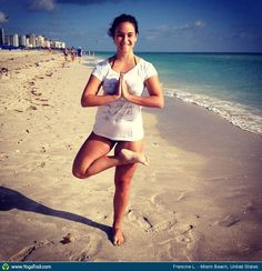 """#Yoga Poses Around the World: """"Tree Pose - by Francine L."""""""