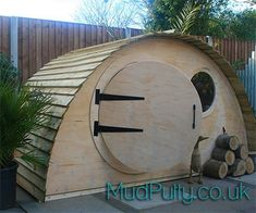 Give your children the perfect hidey hole, with our hobbit hole playhouse. Gtreat for kids big and small! #diyplayhouse