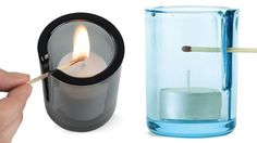 Vented Candleholder Provides Easy Access For a Lit Match