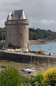 Solidor Tower and Bay,St. Malo,Brittany,France