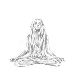 Hand drawn animation | Yoga meditation hand drawn animated gif in pencil, the process | by Hannah Adamaszek online shop