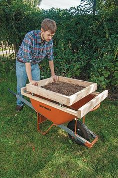 Soil sifter - simple DIY instructions & list of materials to make.
