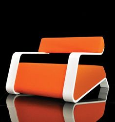 Orange Hyperlounge Chair by Bjorn Iggsten