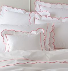 Matouk Bed Linens-Butterfield Scallop Sheets