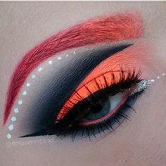 A neon coral color makeup ♥ #evatornadoblog this is really bold and hard to pull off