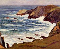 The Cove à Cape Suzon, huile sur toile de Maxime Maufra (1861-1918, France)