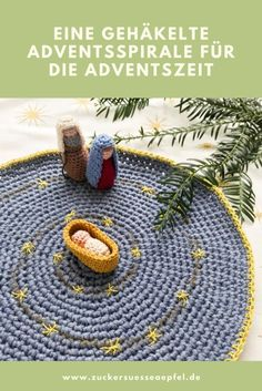 {Ad} A crocheted advent spiral for the advent season, crochet for Christmas, crochet pattern, advent Spiral Crochet Pattern, Sawdust Is Man Glitter, Wine Country Gift Baskets, Diy Shadow Box, Small Mason Jars, Advent Season, Crochet Wedding, Glitter Ornaments, Ganchillo