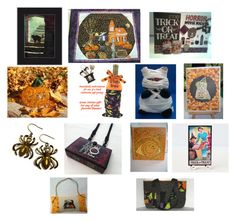 """""""Happy Halloween"""" by mikeandmollyscrafts on Polyvore featuring interior, interiors, interior design, home, home decor, interior decorating and INC International Concepts"""