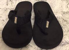 Reef Grom Smoothy Black Flip Flops Sandals Little Kids Boy's Size 13/1 Beach #REEF #Sandals