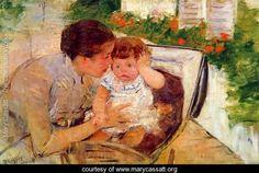 Susan Comforting the Baby, c.1881 - Mary Cassatt - www.marycassatt.org