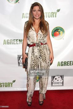 """Singer Elena Paparizou attends the Gabby Awards weekend welcome party for theatrical release of """"A Green Story"""" held at Madame Tussauds on May 2013 in Hollywood, California. Helena Paparizou, Madame Tussauds, Welcome To The Party, In Hollywood, Costume Design, Singers, Awards, Product Launch, Sexy"""