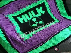 The Hulk Crochet Graphghan Blanket Pattern (PDF file only) - inspired by Marvel comics The Avengers Crochet For Beginners Blanket, Crochet Blanket Patterns, Crochet Stitches, Crochet Blankets, Crochet Afghans, Afghan Patterns, Tapestry Crochet, Crochet Toys, Crochet Baby