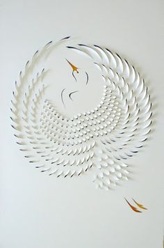 Hand cut paper art  ~paper art is beautifully interesting....