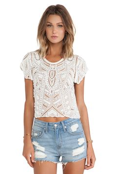 Lovers + Friends Lovers + Friends Daycation Crop Top in Ivory