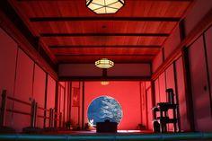 北鎌倉明月院丸窓