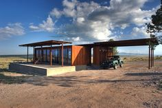 Glass Marfa Dwelling Stands Quietly Amid the Prada Ruckus~ this may be the one?