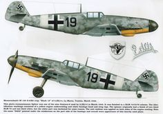 "Messerschmitt Bf 109G2/R2Trop ""Black 19"" La Marsa Tunisia March 1943 Kagero Top Colors #34"