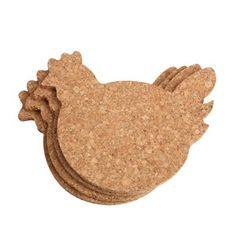 Sada 4 podtácků T&G Woodware Chicken | Bonami