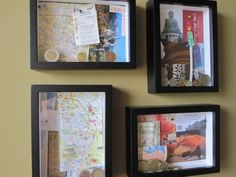 After the last painting project, I looked on Pinterest to find more DIY projects. Saw this… and thought what a cool idea. Instead of using pictures, I thought I'd use shadow boxes fil…