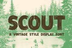 Check out Scout - Vintage Style Display Font by jeffportaro on Creative Market