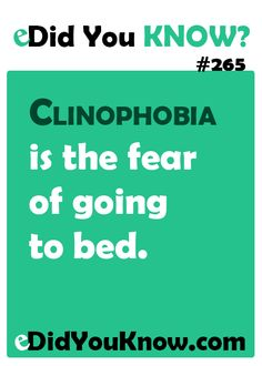 Clinophobia is the fear of going to bed… Did You Know Facts, Things To Know, General Knowledge Facts, Gernal Knowledge, Wtf Fun Facts, Crazy Facts, Intresting Facts, Psychology Facts, The More You Know