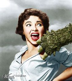 """Beverly Garland and some guy's hand in """"Curucu, Beast of the Amazon"""" (1956) haha"""
