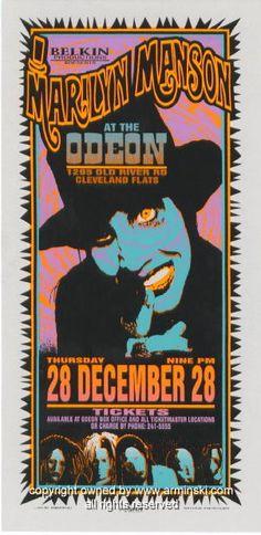 1995 Marilyn Manson Concert Handbill by Mark Arminski (MA-062)