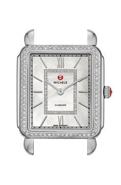 MICHELE 'Deco II' Diamond Dial Watch Case, 30mm x 32mm available at #Nordstrom