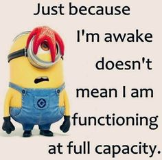 Just Because I'm Awake Doesn't Mean I Am Functioning At Full Capacity