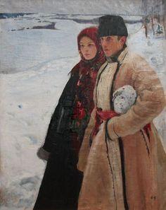 Oleksandr Murashko. Winter. 1905-1906 oil on canvas, 89x140