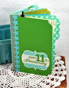 Anniversary Mini-Book by Dawn McVey for Papertrey Ink (March 2012)