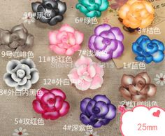 Handmade Crafts Bicolor Polymer/Clay Rose Fimo flowers shape ...