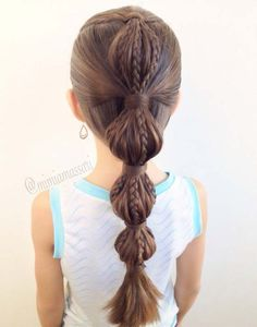 Striped Bubbles hairstyle 2015