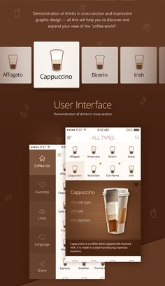 We present a new app concept for all coffee-lovers. It will help you to learn more about your favorite drink but even more, the method of its preparation.