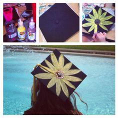 DIY Graduation Cap Flower