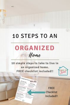 10 Steps To an Organized Home